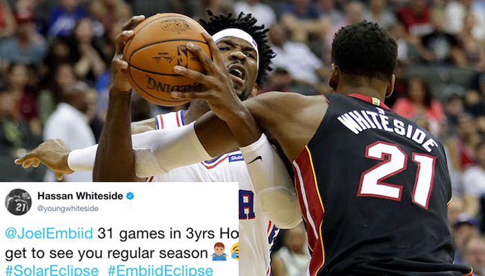 Hassan Whiteside Claps Back at Joel Embiid After Being Called Out on Twitter