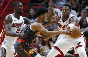 Okaro White, Hassan Whiteside Miami Heat
