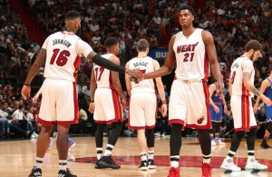 James Johnson and Hassan Whiteside