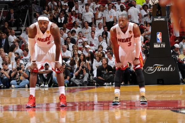 LeBron James and Dwyane Wade Miami Heat