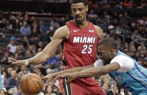 Jordan Mickey Miami Heat vs. Charlotte Hornets