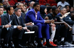 Hassan Whiteside Miami Heat Bench