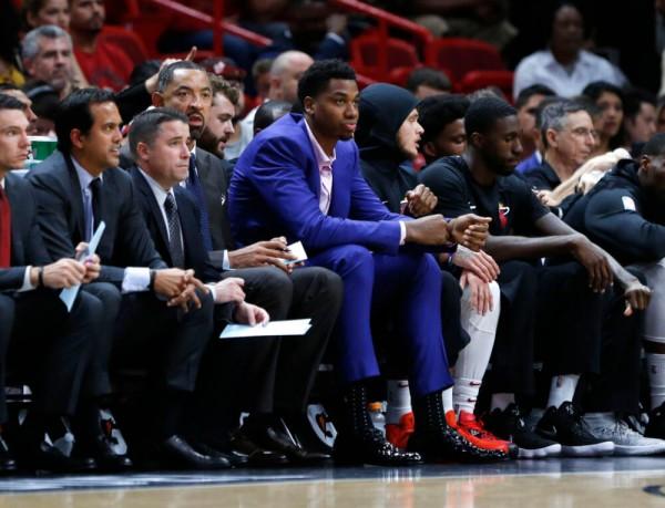 Hassan Whiteside Miami Heat Bench