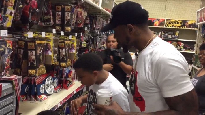 Udonis Haslem Takes Kids Toy Shopping