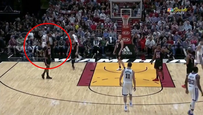 VIDEO: Shaun Livingston Headbutts Referee During Heat-Warriors Game
