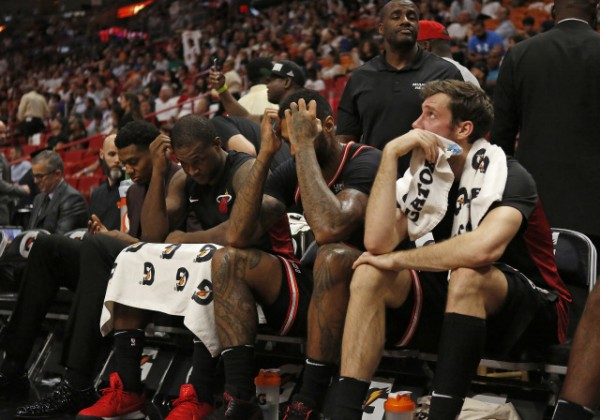 Hassan Whiteside, Dion Waiters, James Johnson, Goran Dragic