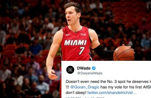 Dwyane Wade Reacts to Goran Dragic Winning Player of the Week