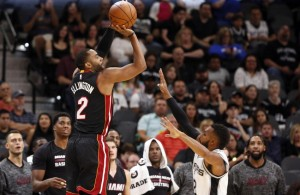 Wayne Ellington Miami Heat vs. Spurs