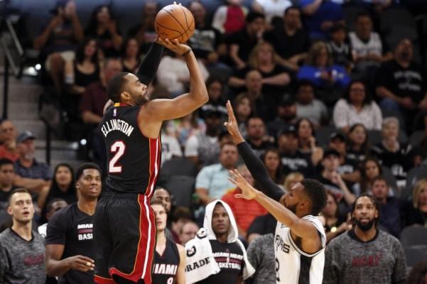 Wayne Ellington Miami Heat vs. Spurs