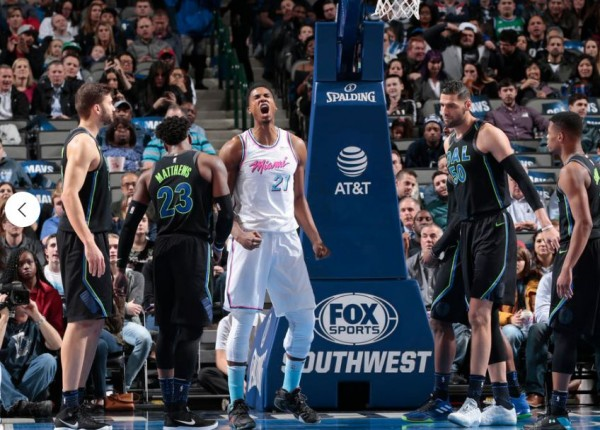 Hassan Whiteside Miami Heat vs. Charlotte Hornets