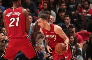 Hassan Whiteside and Goran Dragic Miami Heat
