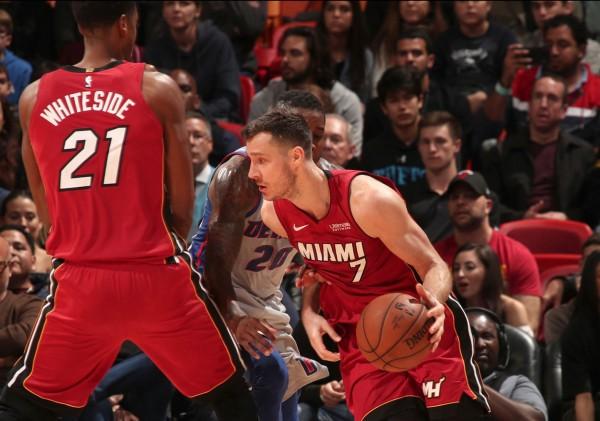 Hassan Whiteside and Goran Dragic Miami Heat