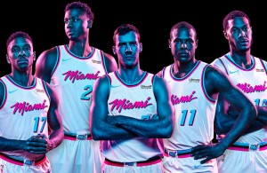 Miami Heat Vice-Themed Uniforms