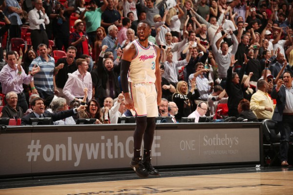 Dwyane Wade Miami Heat Celebration