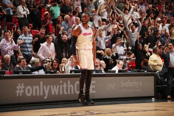 Dwyane Wade Miami Heat Celebration