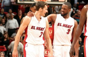 Goran Dragic and Dwyane Wade Miami Heat