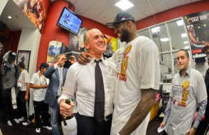 Pat Riley and LeBron James Miami Heat