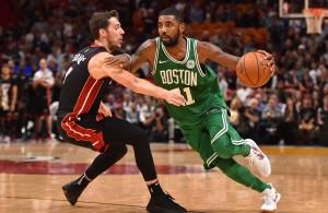 Goran Dragic and Kyrie Irving Heat vs. Celtics