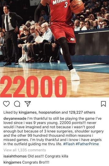 LeBron James and Isaiah Thomas React to Dwyane Wade Reaching 22K Career Points