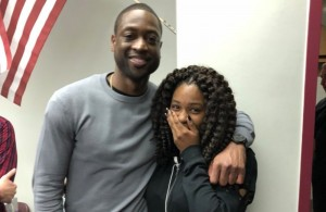 Dwyane Wade Visits Students at Marjory Stoneman Douglas High School