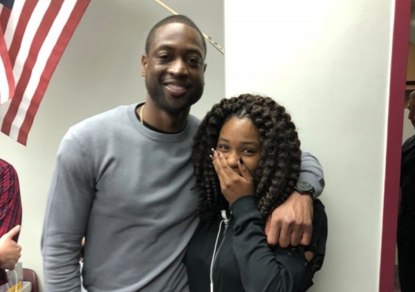 Dwyane Wade surprises Marjory Stoneman Douglas High School with visit