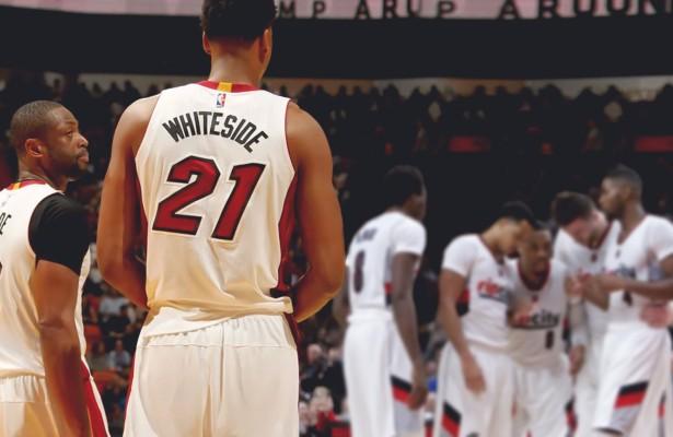 Dwyane Wade and Hassan Whiteside Miami Heat