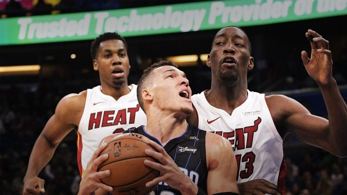 Hassan Whiteside and Bam Adebayo Miami Heat