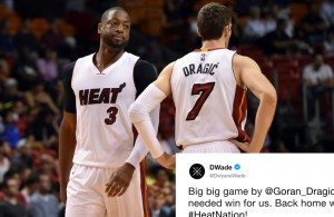 Dwyane Wade and Goran Dragic Miami Heat