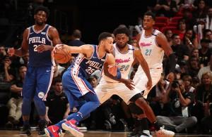 Ben Simmons Justise Winslow 76ers Heat