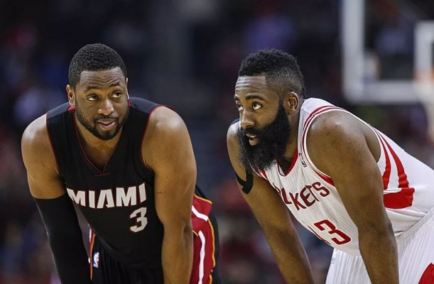 Dwyane Wade and James Harden Miami Heat