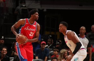 Joel Embiid and Hassan Whiteside