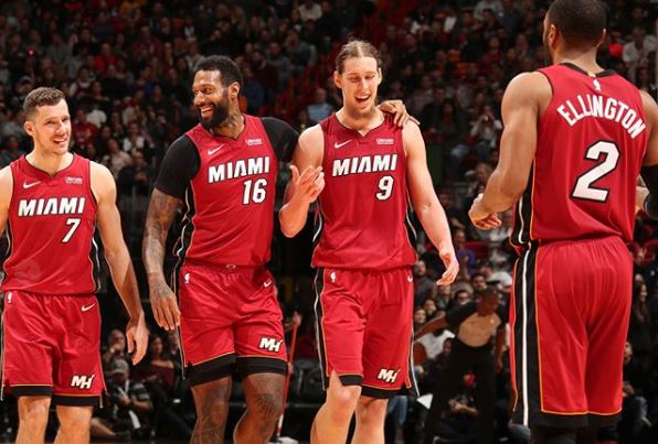 Goran Dragic, James Johhnson, Kelly Olynyk, Wayne Ellington