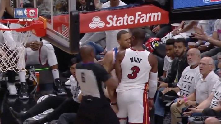 Dwyane Wade And Justin Anderson Get Into Altercation in Game 3