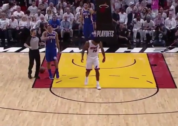 Justise Winslow Steps on Joel Embiid's Face Mask