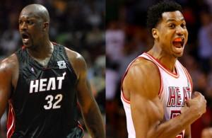 Shaquille O'Neal Hassan Whiteside Miami Heat