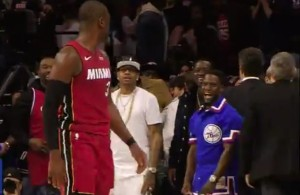 Dwyane Wade, Allen Iverson, and Kevin Hart