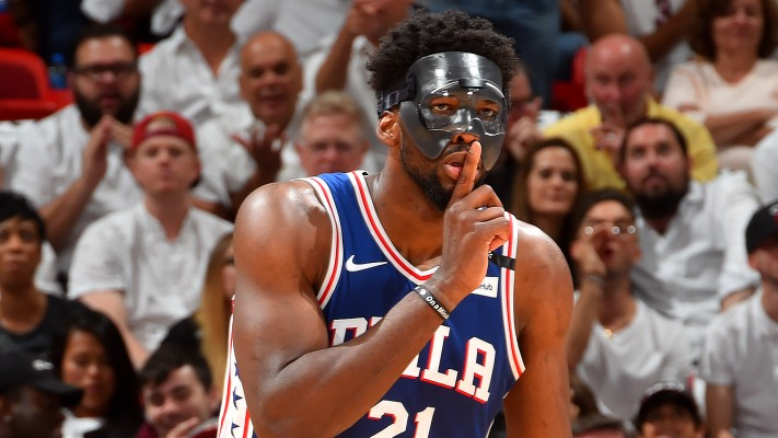 Joel Embiid's Bold Response to Justise Winslow Stepping on His Mask