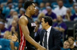 Erik Spoelstra and Hassan Whiteside Miami Heat