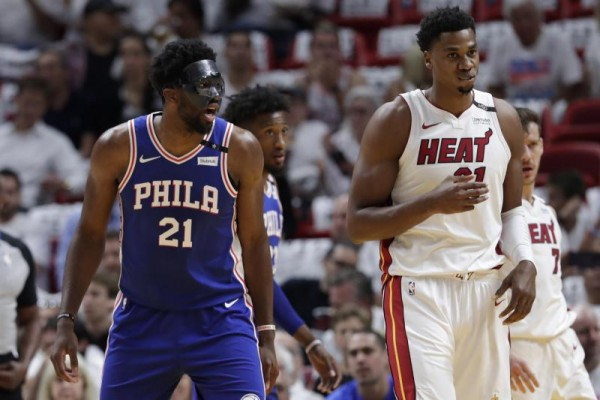 Joel Embiid and Hassan Whiteside Miami Heat vs. 76ers