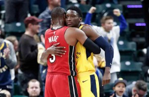 Dwyane Wade and Victor Oladipo Indiana Pacers