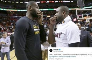 LeBron James and Dwyane Wade Cavs
