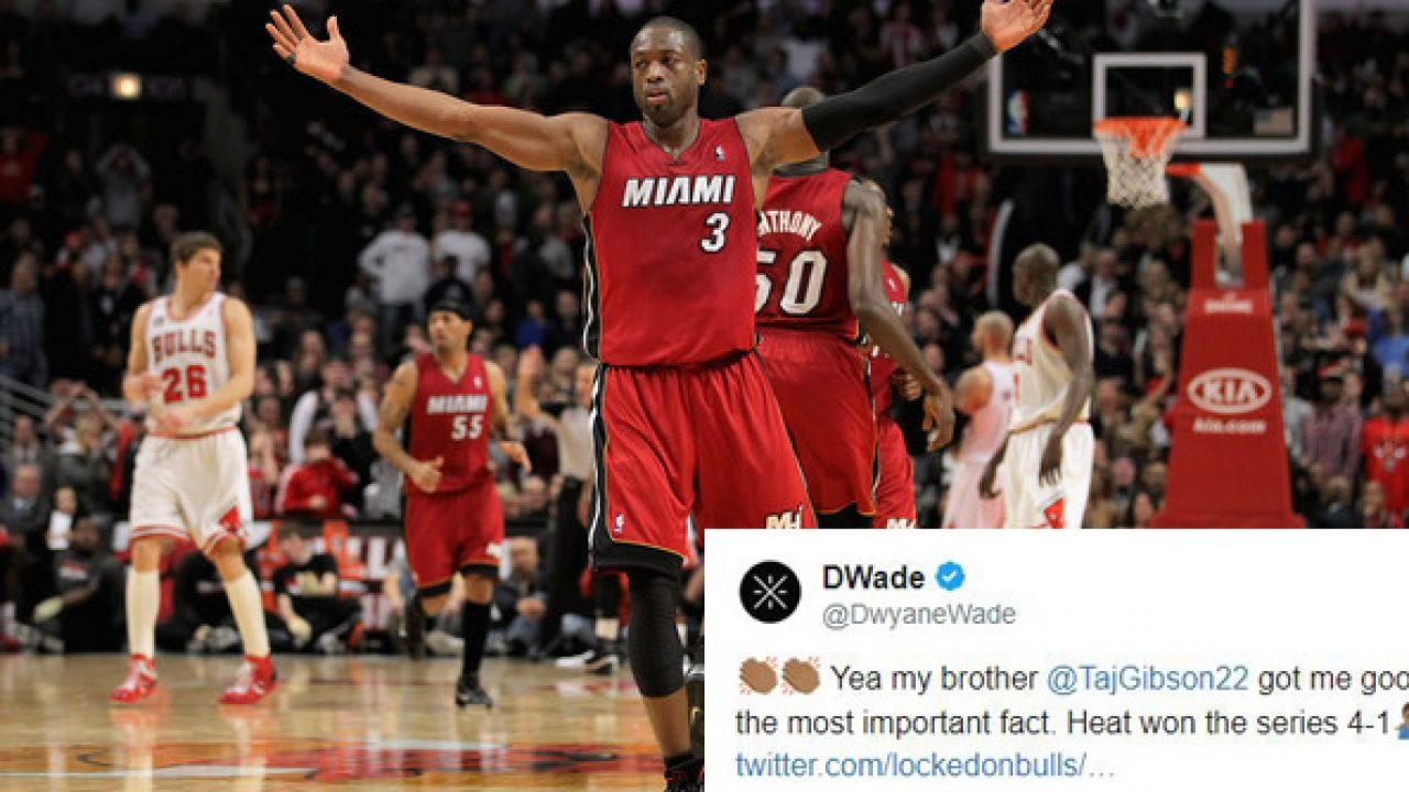 finest selection 49431 636d9 Dwyane Wade Roasts Chicago Bulls Twitter Account in Best Way ...