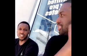Dwyane Wade and Mario Chalmers Miami Heat