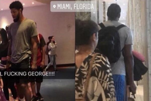 Paul George and Kawhi Leonard in Miami