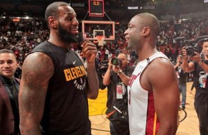 LeBron James Dwyane Wade Cavs Heat