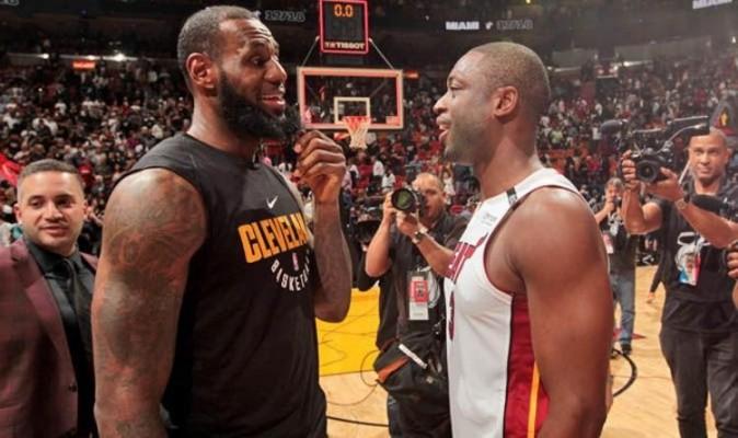 LeBron James Dwyane Wade Cavs Heat