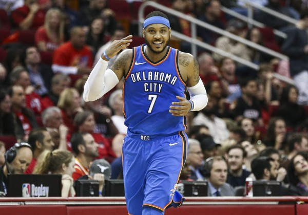 Carmelo Anthony traded from Thunder to Atlanta Hawks
