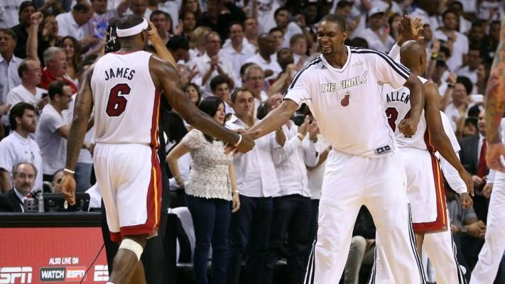 LeBron James and Chris Bosh Miami Heat