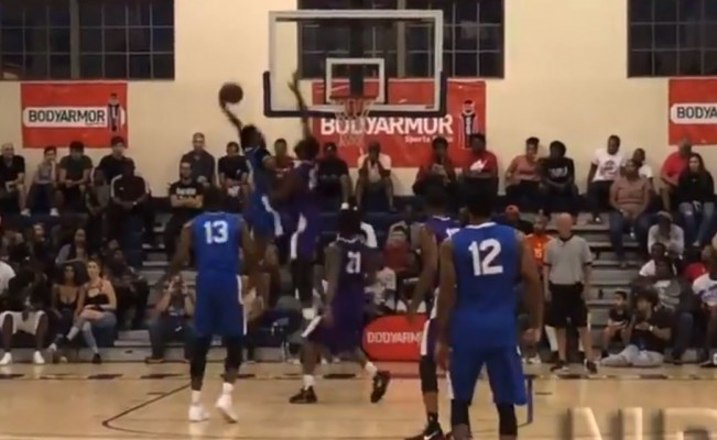 Derrick Jones Jr. Dunk on Andre Drummond