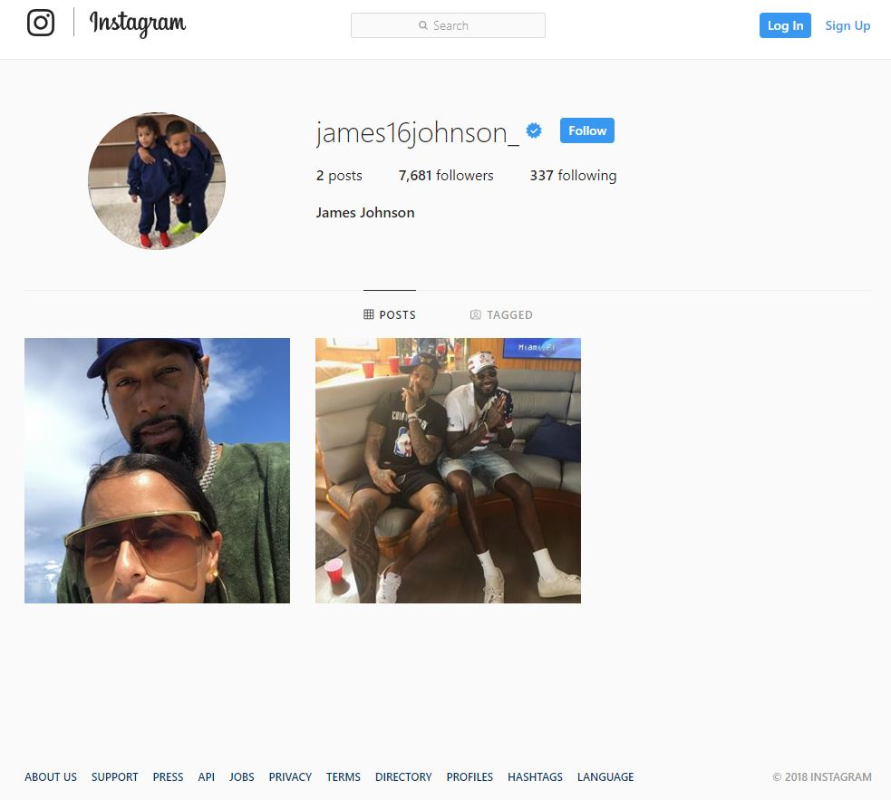 James Johnson Instagram